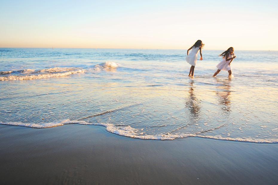 girls in the ocean